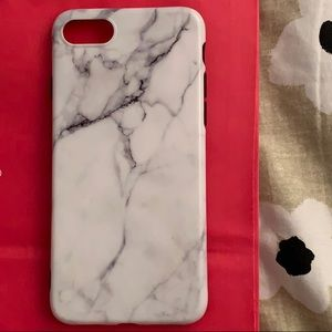 IPhone 7 silicone marble patterned phone case